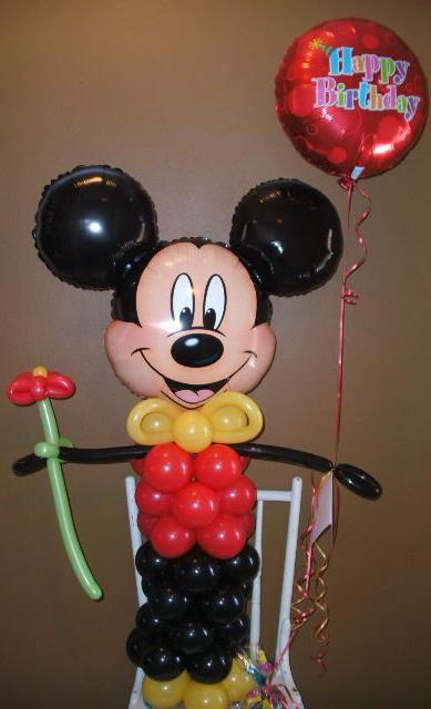 how to make mickey mouse with balloons