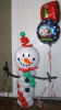 #CH44 - Snowman Balloon Character, Delivered in the Tulsa and Surrounding Area
