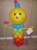 "#SG14 - HELIUM FILLED #35173 - 24"" Smiley Colorful Hair Bubble Balloon"