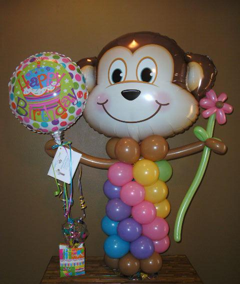 #CH36 - Monkey Balloon Face Character for Any Occasions
