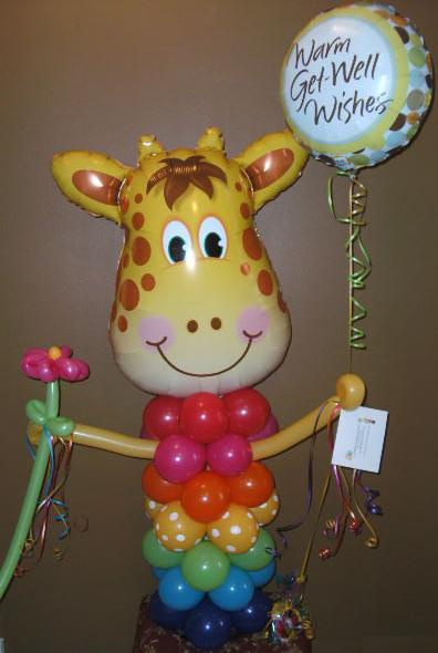 #CH38  3.5ft Giggling Giraffe Balloon Character, Any Occasion, Delivery in the Tulsa & Surrounding A