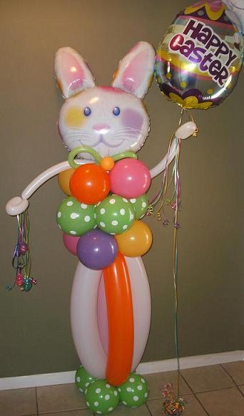 #CH21 - CHARACTER 6ft. Happy Bunny Balloon Character