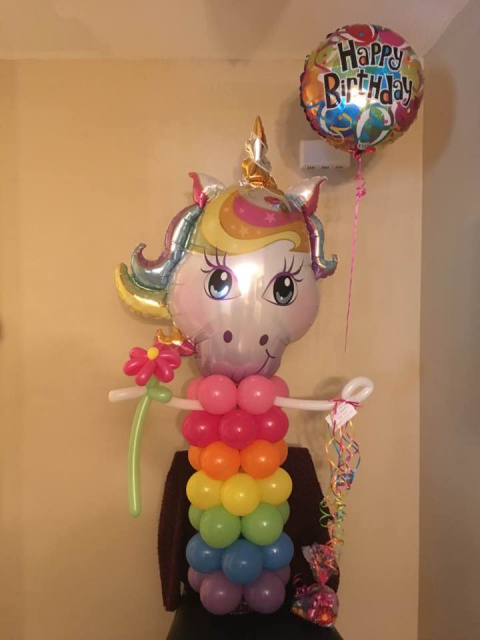 #CH14 - Unicorn Balloon Character - Delivery in the Tulsa and Surrounding Area