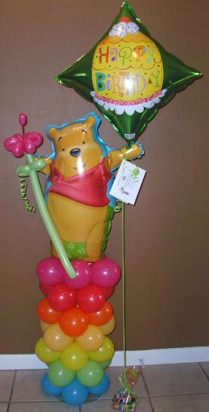 #CH33 - Winnie The Pooh Column Design Any Occasion, Delivery in the Tulsa & Surrounding Area