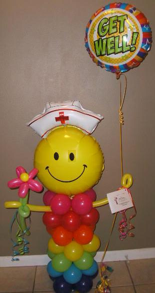 #CH4 - 3.5ft Tall Nurse Multi Colors Balloon Nurse, Delivery in the Tulsa & Surrounding Area