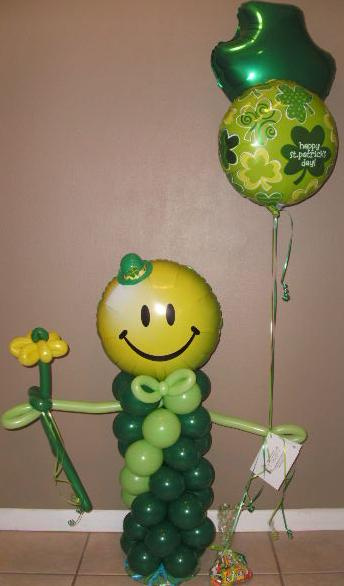 #CH50 - 3.5ft Green Littleman Balloon Character for any Occasion