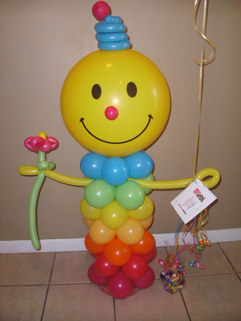 "#BU20 - 22"" Smiley Face Bubble Balloon Character"