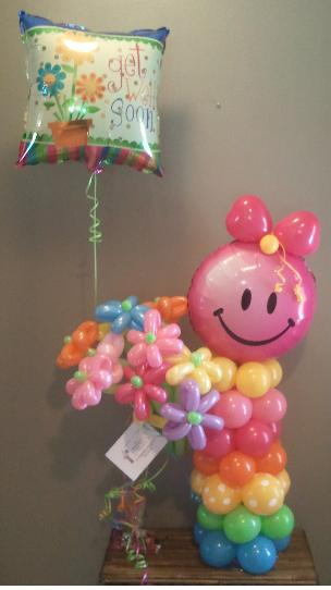 #CH6 - Littlegirl Flower Delivery Balloon Character, Delivery in the Tulsa & Surrounding Area