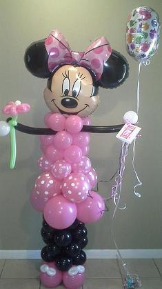 #CH13 - 6ft (Full Body) Minnie Mouse Balloon Character, Delivery in the Tulsa and Surrounding area