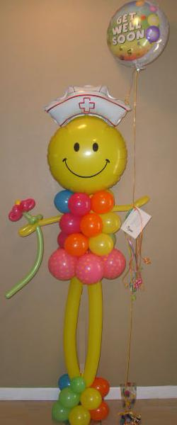 #CH3 - 6ft Tall, Nurse Balloon Character, Delivery in the Tulsa & Surrounding Area