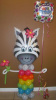 #CH34 - 3.5ft Zebra Any Occasion Balloon Character, Delivery in the Tulsa & Surrounding Area