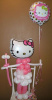 #CH32 - 3.5Ft Hello Kitty Balloon Character, Delivery in the Tulsa & Surrounding Area