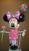 #CH24 -  3.5 Ft Tall Minnie Mouse Balloon with Helium Filled Foil Balloons