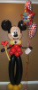 "#CH60 - 6ft Tall Mickey Mouse, Any Occasion, with 18"" foil balloon"