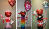 "#LVCH35 ""Heart Shape Face Balloon Character with a Kiss"" Tulsa area Delivery"