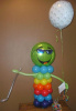 #CH11- AIR FILLED CHARACTER 3.5ft. Mr. Cool Green Face Character  Tulsa area Delivery